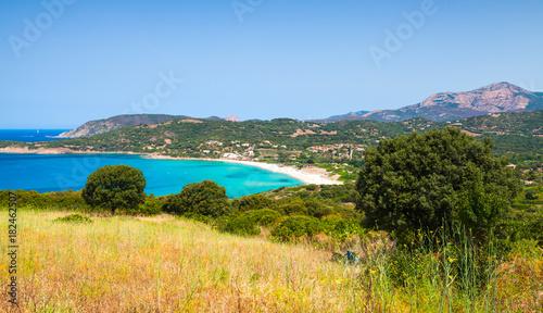 Summer coastal landscape of Corsica