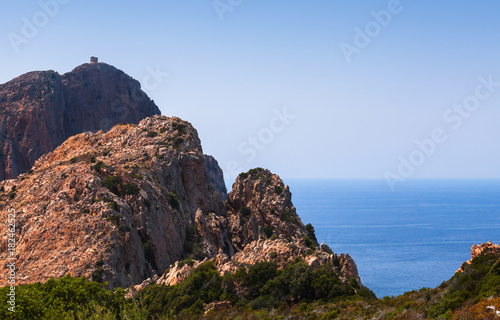 French Mediterranean island Corsica