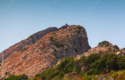 Mountain landscape of Corsica island