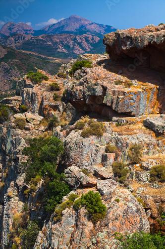 Corse-du-Sud vertical mountain landscape