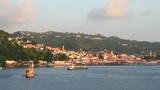 City on coast of island in Caribbean Sea. St. George's, Grenada - 182462998