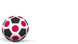 Football ball featuring flags of Japan. 3D rendering - 182468592