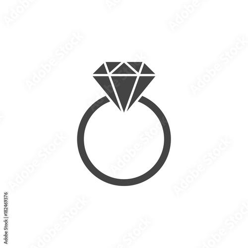 Pierścień z kamieniem szlachetnym sylwetka, ikona