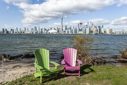 Keuken foto achterwand Canada Toronto skyline from the Centre Island