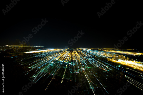 Staande foto Nacht snelweg Stirling