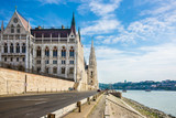 Hungarian Parliament building in Budapest city center Hungary - 182479511