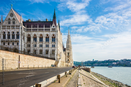 Fotobehang Boedapest Hungarian Parliament building in Budapest city center Hungary