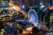 downtown cityscape of Atlanta, Georgia,  Centennial Park, August 22, 2017