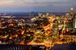 downtown night  cityscape of Atlanta, Georgia, August 22, 2017