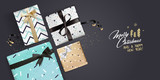 Christmas greeting card. Luxurious vector illustration concept for greeting cards, web banner, flayer brochure, party invitation card. - 182479912