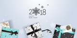 Elegant New Years greeting card. Vector illustration concept for greeting cards, web banner, flayer brochure, party invitation card. - 182480191
