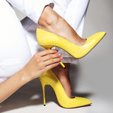 Part of women legs in beautiful fashionable high heels - 182480531