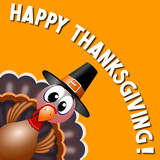 Happy Thanksgiving card - 182481530