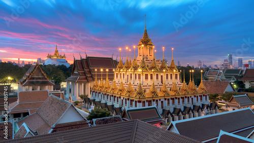Staande foto Bangkok Wat Ratchanatdaram Temple in Bangkok, Thailand.