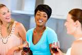 Female friends with glass of wine - 182486902