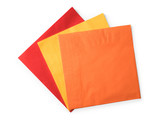 Colored paper napkins on white - 182489101