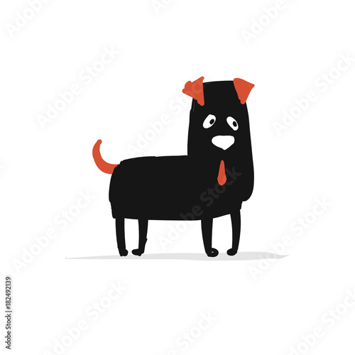 Funny bulldog, sketch for your design