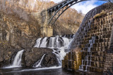 View of Croton Dam in Croton Gorge Park in New York - 182495571
