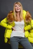 Fashion girl in jacket. - 182502572