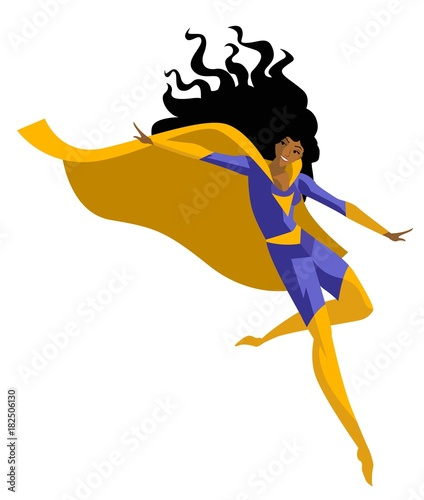 cute woman african superhero - 182506130