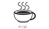 Hot coffee symbol