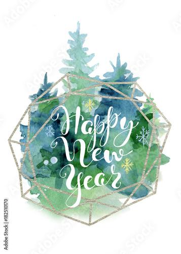akwarela-karty-choinki-z-napisem-cytat-szczesliwego-nowego-roku