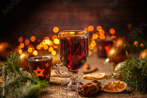 Hot wine with spices