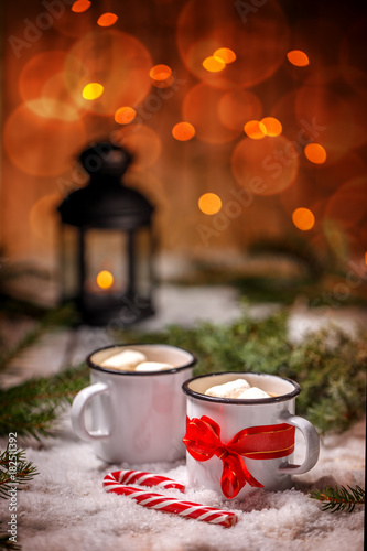 Tuinposter Chocolade Christmas winter still life