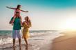 Quadro Familie am Strand