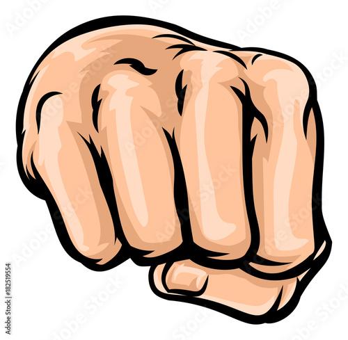 Fotobehang Pop Art Cartoon Fist