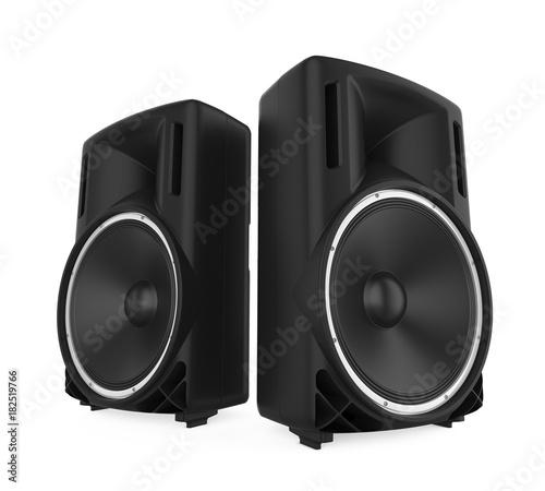 Large Audio Speakers Isolated