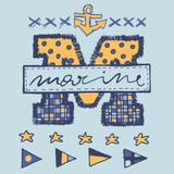 Big letter marine badge - 182522162