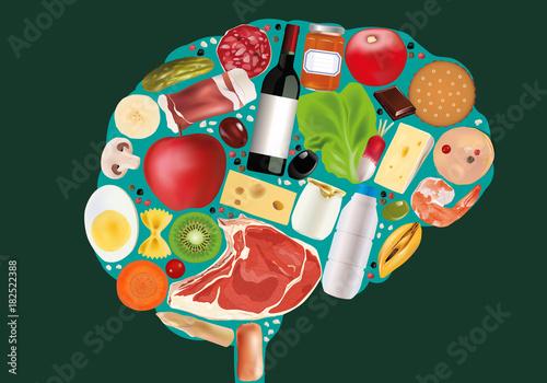 alimentation - nourriture - cerveau - alimentaire -aliment - manger - santé - diète - régime
