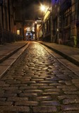 Editorial Swansea, UK - November 26, 2017: Green Dragon Lane, one of the last cobbled streets in Swansea. Originates from the Green Dragon Hotel whose history can be traced back to the 17th century - 182523507