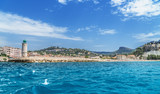 Cassis. Beach and town view from the sea. France. 01.08.2017 - 182525773