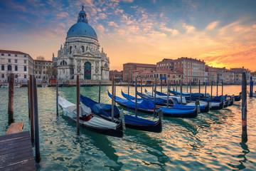 Wenecja Wielki Kanał gondole