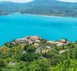 Quadro Remarkable view at the lake of Sainte-Croix-du-Verdon. France. 2017.07.30.