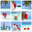 Christmas winter holidays concept, collage