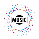 vector logo music - 182527534
