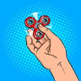 Spinner in hand pop art vector illustration - 182527760