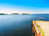 Harbour And Pier On Solovetsky Island In Summer. The White Sea - 182534768