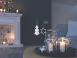 3d rendering. home with advent decoration in modern apartment. 1. advent. filterd version - 182537375