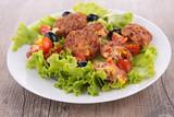 salad with falafel - 182538724