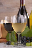 wine glasses with grapes - 182538754