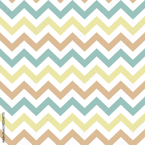 Seamless Chevron Zigzag Pattern Vector - 182540775