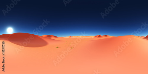 Deurstickers Koraal 360 Grad Panorama mit einer Sandwüste