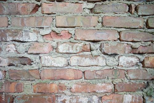 Deurstickers Baksteen muur Ziegelwand Hintergrund Textur
