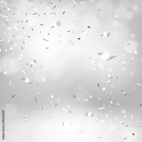 Srebrne spadające konfetti