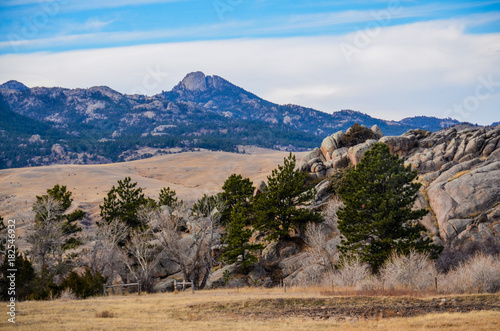 Tuinposter Canyon A Wyoming Country Landscape 1