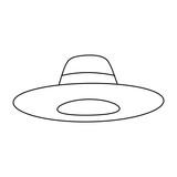 hat accessory fashion object vintage design image vector illustration - 182548153